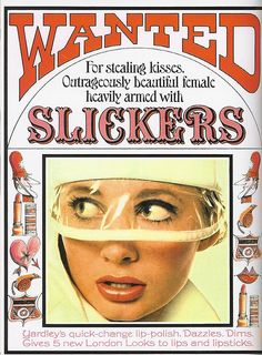 Yardley of London 1966  do you remember Slickers lipstick