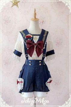 IchigoMiko -Ballad By The River Seine- Blouse, Short Pants and Skirt,Ouji Lolita, Harajuku Fashion, Japan Fashion, Kawaii Fashion, Lolita Fashion, Cute Fashion, Estilo Lolita, Old Fashion Dresses, Fashion Outfits, Moda Lolita