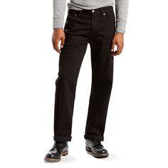 Men's Levi's® 569™ Stretch Loose-Fit Straight-Leg Jeans, Size: 40X32, Black