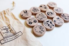 Make a Match Toddler - Farm Edition - A Montessori and Waldorf Inspired Matching and Memory Game Preschool Toys, Montessori Toys, Play Wood, Wholesale Gold Jewelry, Farm Theme, Memory Games, Toddler Fun, Matching Games, Wood Toys