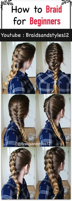 How to Braid your Own Hair for Beginners by Braidsandstyles12. Click the  below or the pin for a tutorial! :)   Youtube Tutorial : www.youtube.com/...