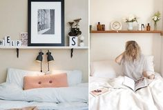 alternative à la tête de lit avec rangement- étagère de stockage