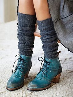 The color is the best! #shoes #fashion \ \   Free People Wanna Dance Ankle Boot