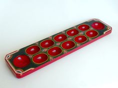 Handmade Mancala Game Board Indonesian Dakon by BunnyFindsVintage Mancala Game, Hand Carved, Hand Painted, Frame Stand, Deep Conditioner, Paint Designs, Board Games, Folk Art, Bunny