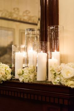 Candle covered ballroom wedding / http://www.deerpearlflowers.com/wedding-ideas-using-candles/2/