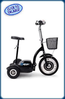 The MotoTec 300w Electric Trike is super stable with a total of four wheels. At a fraction of the cost, this personal transporter will have you wondering if Segway is the right way? #mototec #trikes #electricscooters