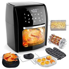 New Audew Air Fryer Oven Large Capacity, Multi-Use Digital Air Fryer, Electric Hot Deep Fryer, Oilless Air Fryer Cooker Recipe Book - Perfect Gift Idea online - Topusashoppingsites Air Fryer Cooker, Best Air Fryers, Deep Fryer, Multicooker, Oven Cooking, Online Gifts, Cooker Recipes, Kitchen Dining, Electric