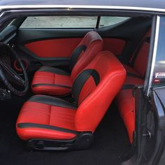 69 chevelle red and black interior. fesler door panels custom