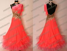 New Pink Grapefruit Ballroom Dance Competition Dress   eBay