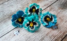 Pansy rings, floral rings, summer rings. These rings made from polymer clay