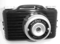 VINTAGE Deluxe Cinex Candid Type Miniature Camera Circa 1940 Black Bakelite #DeluxeCINEXCandidTypeMiniatureCamera