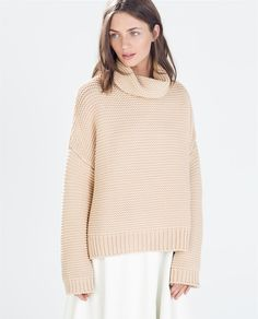 Zara High Neck Sweater Biscuit 18