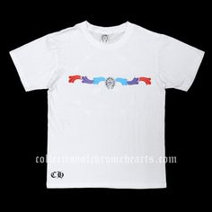 bb23891d74f7 White Short Sleeves Chrome Hearts T-shirt Multi Color Square Printed