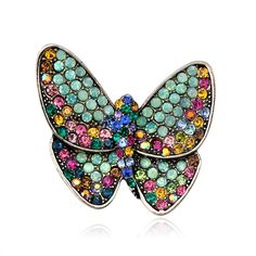 Fashion Jewelry Special Section Butterfly Pin Brooch Rhinestone Fashion Jewelry Benefits Cat Rescue Jewelry & Watches