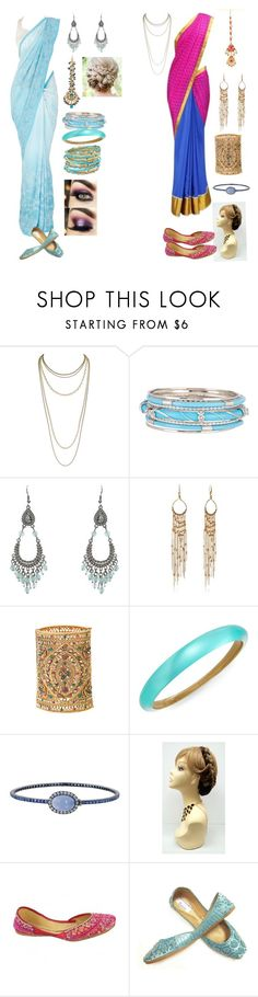 """Anna and Elsa: Bollywood Style"" by andyarana ❤ liked on Polyvore featuring Scott Kay, Spring Street, Diane Von Furstenberg, Alexis Bittar and Nam Cho"