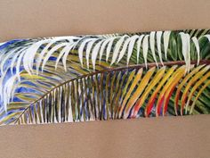 Palm Leaves 1  Artwork by Artist Sharon Wood Acrylic on Canvas  swoody@internode.on.net SOLD