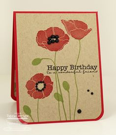 Pretty.  Debbie Carriere, Scrappin' My Heart Out: Pretty Poppies... MFT Teasers Day 1