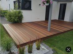 Bankirai (outdoor wood deck) small garden design, yard design, how to level Patio Deck Designs, Yard Design, Patio Ideas, Pergola Ideas, Small Deck Designs, Porch Ideas, Yard Ideas, Small Backyard Landscaping, Backyard Patio