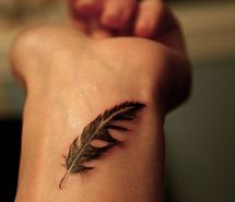 Inspiring picture feather, tattoo, wrist. Resolution: 500x333 px. Find the picture to your taste!