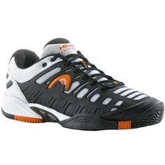 Head '12 Speed Pro Lite Men's Tennis Shoe-Black/White/Orange-12 « Shoe Adds for your Closet...pair these up with the right socks and you'll be set...try our style 5150 or 7170, you'll never wear another sock!  covertthreads.com