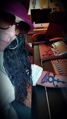 """Sheila E. gets a new tattoo. """"Her Tribute To Prince"""" :-). I absolutely love it Sheila! Simply BEAUTIFUL!! :-D"""