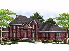 New American House Plan with 2927 Square Feet and 4 Bedrooms from Dream Home Source | House Plan Code DHSW18244