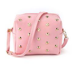 Fashion Women Bag New 2018 Autumn Winter Woman PU Leather Rivet Shoulder Bag  Cell Phone Bag 18713ba1fd027