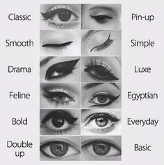 different ways to put on eyeliner