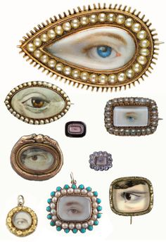 The demand for miniature portraits detailing an eye as a symbol of love took hold during the late 18th century and continued through the early 19th century until the advent of photography.