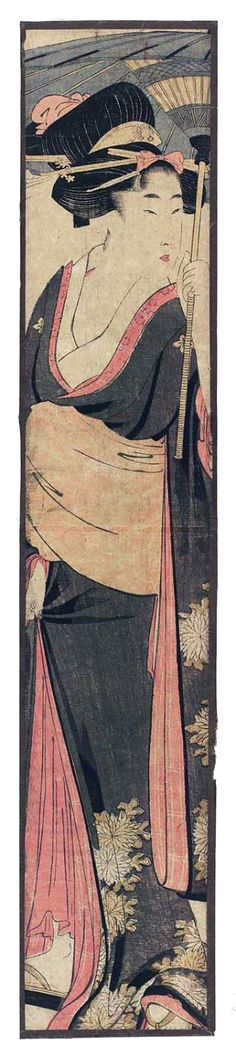Utamaro Kitigawa  /  Frau mit Schirm