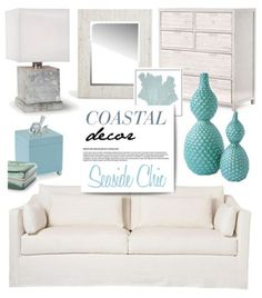 A Splash of Aqua Add a touch of aqua to create a fresh, breezy coastal feel in your home. A bright colour mixed back with white and neutrals will really make a room pop. Use colour in a mixture of pri Coastal Wall Art, Coastal Decor, Coastal Homes, Coastal Living, Decorating On A Dime, Interior Decorating, Interior Design, Aqua Decor, Cottages By The Sea