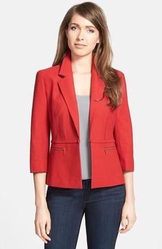 Classiques Entier® Textured Woven Blazer (Regular & Petite) available at #Nordstrom