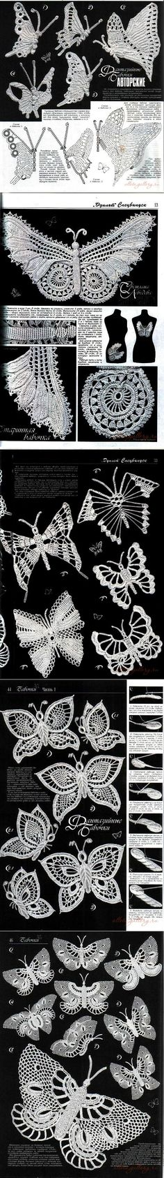 Colección de punto mariposas. Parte 1 ..