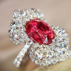Amazing pink spinel and diamond ring by VTse Jewelry (@vtsejewelry)