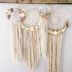 Conjunto de cuatro Dreamcatchers de flores secas  por MeadowandMoss