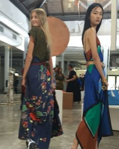 (Boomerang video via instagram) Spinning around: @jonathantsaunders debuts his first collection for @DVF at #NYFW.