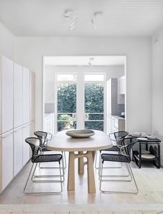Redfern Terrace dining room with Christophe Delcourt dining table.