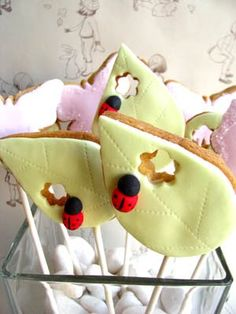 cookies with little nibbles taken out of them.  this would be so cute with a Very Hungry Caterpillar theme.