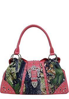 Pink Camoflage Rhinestone Hobo Purse * Details can be found by clicking on the image.