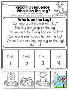 READ and SEQUENCE!  Read the simple story, cut and paste the pictures to show COMPREHENSION!
