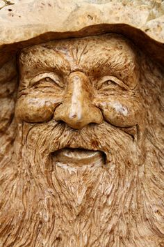 Wood spirit wood carvings - love this artist (the Tree Wiz on etsy)