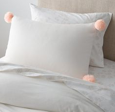 Pom-Pom Trimmed Cotton-Linen Duvet Cover