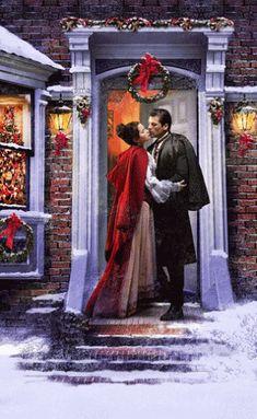 Another Christmas Romance Romance Novel Covers, Romance Novels, Christmas Scenes, Christmas Past, Victorian Christmas, Vintage Christmas, Foto Portrait, Photo Souvenir, Photo Vintage