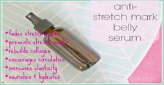 This stretch mark serum recipe is very effective for preventing and fading stretch marks and scars! It is also a wonderful moisturizing all over body oil.