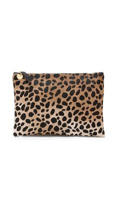 CLARE VIVIER Flat Haircalf Clutch | selected by jamesdrygoods.com for the made in america: contemporary project | #madeinusa |