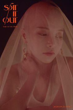 Solar (Mamamoo) - Spit It Out (뱉어) Album Photo Collection Solar Mamamoo, K Pop, Spit It Out, Devon Aoki, Steve Aoki, Wattpad, 2ne1, Rainbow Bridge, Pith Perfect