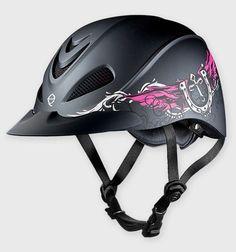 Troxel Rebel Helmet - Low Profile Western Helmet - Rocker (Black & Pink!) please