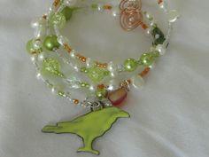 Bird on a (memory) wire bracelet.