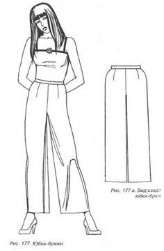Выкройка юбка - брюки