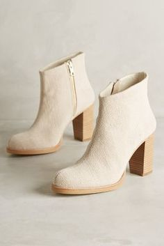 Ras Hana Canvas Booties Neutral Boots